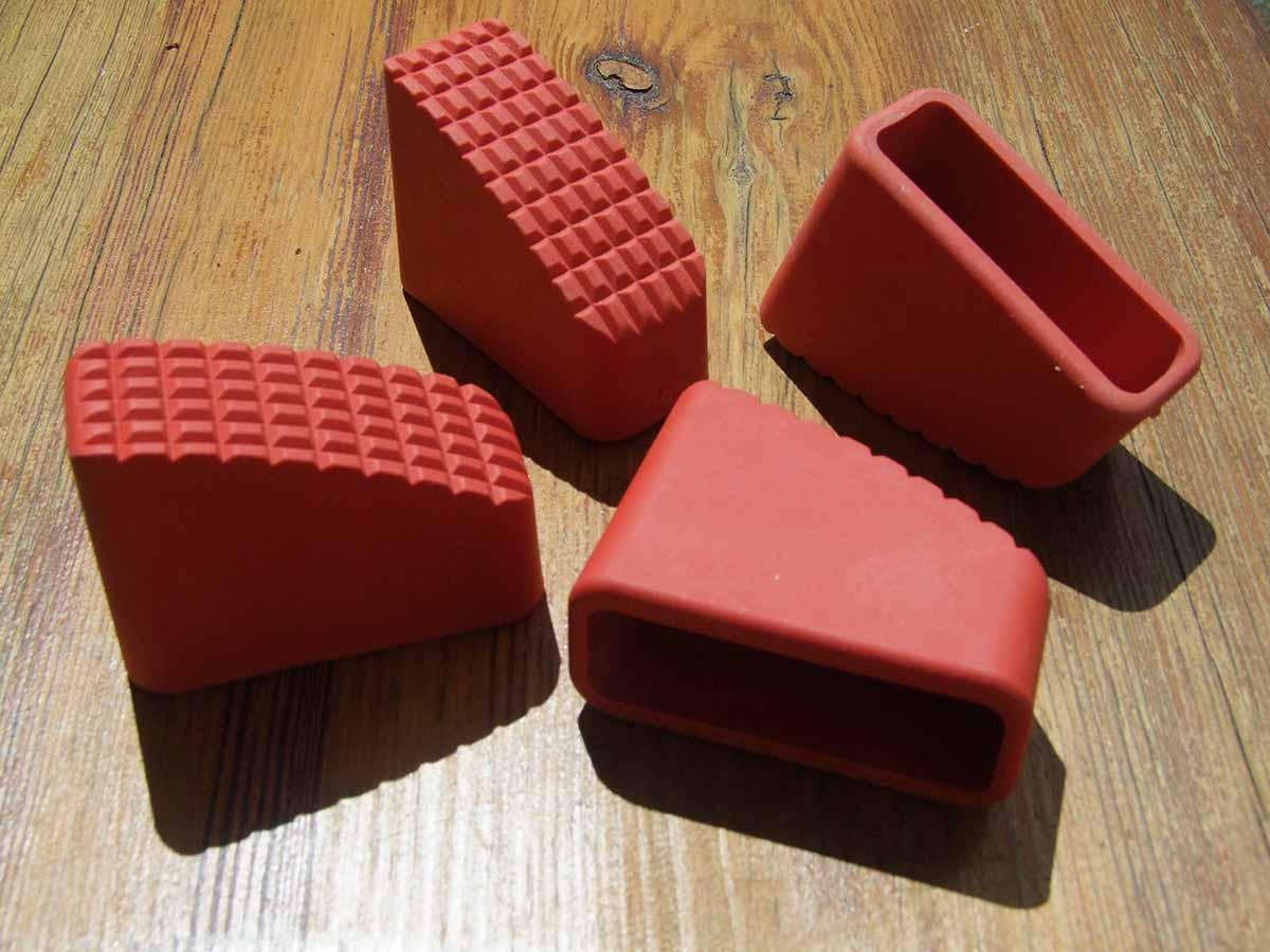 Gummifüße Leiternschuhe rot 70x25mm 4er Set